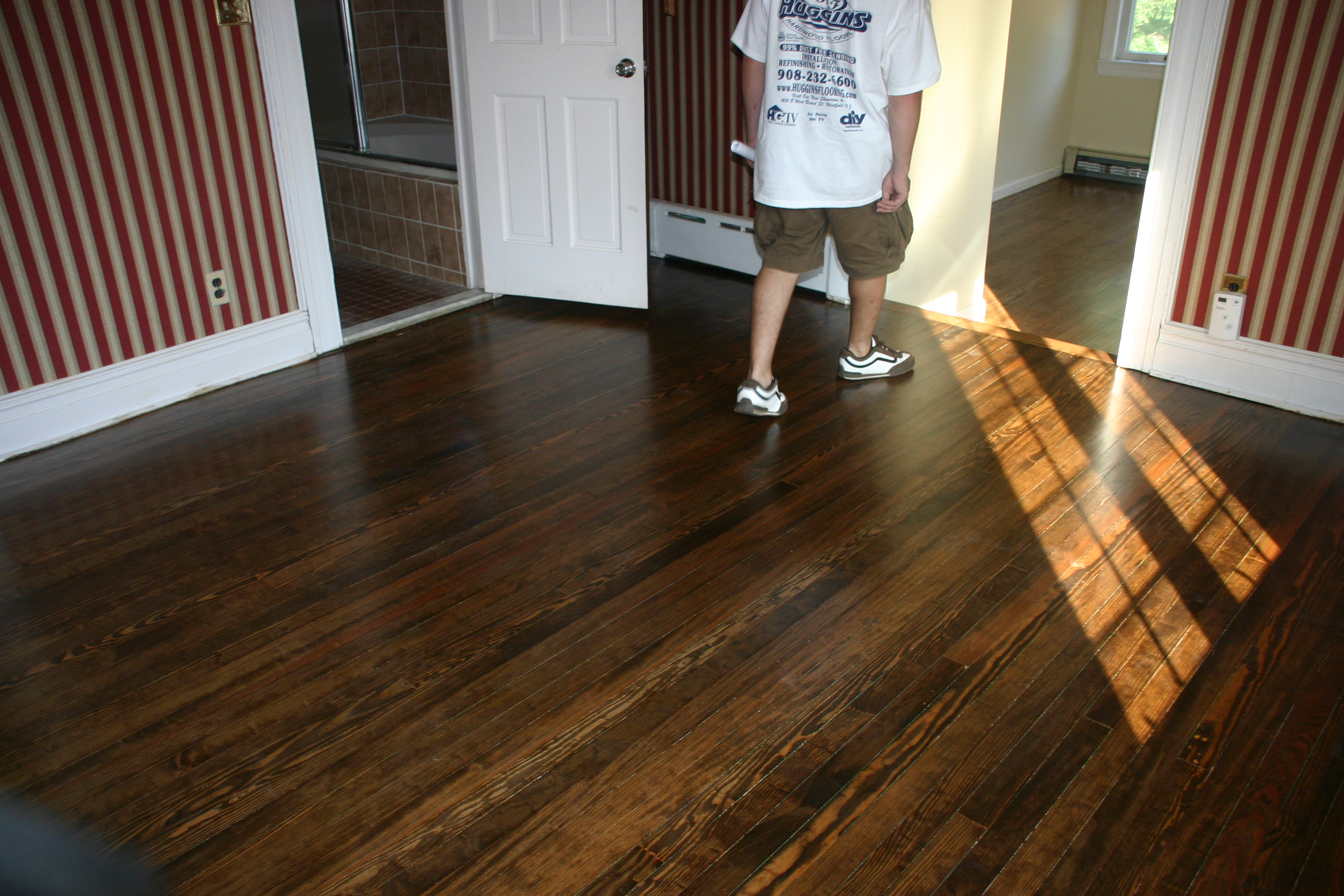 Dark Walnut Stain On Pine Floors